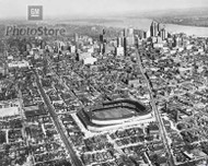1940s Aerial View of Briggs Stadium Poster