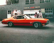 1970 Oldsmobile Cutlass S Holiday Coupe Poster