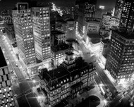 Downtown Detroit at Night in 1960 Poster