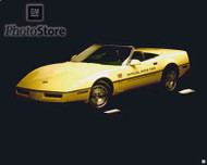 1986 Chevrolet Corvette Convertible Pace Car Poster