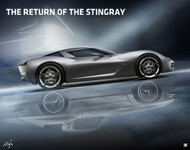 2010 Chevrolet Corvette Stingray Concept Poster