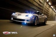 2011 Chevrolet Corvette Z06 Blade Silver Poster