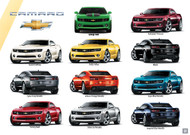 2011 Chevrolet Camaro Exterior Colors Poster