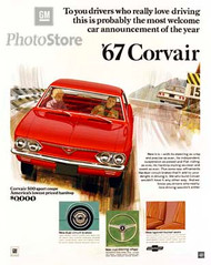 1967 Chevrolet Corvair 500 Sport Coupe Poster