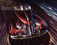 1937 Cadillac Rendering by Bill Mitchell Poster