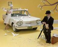 1960 Chevrolet Corvair 500 4-Door Sedan Poster