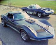 1960s Chevrolet Mako Shark Concept Cars Poster