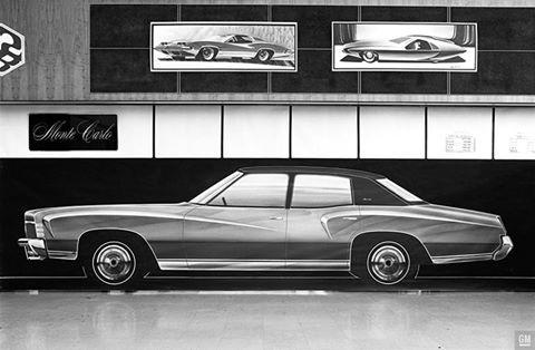1970s Chevy Monte Carlo Concept Poster Gmphotostore