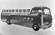 1946 GM Double-Decker Bus Concept Poster