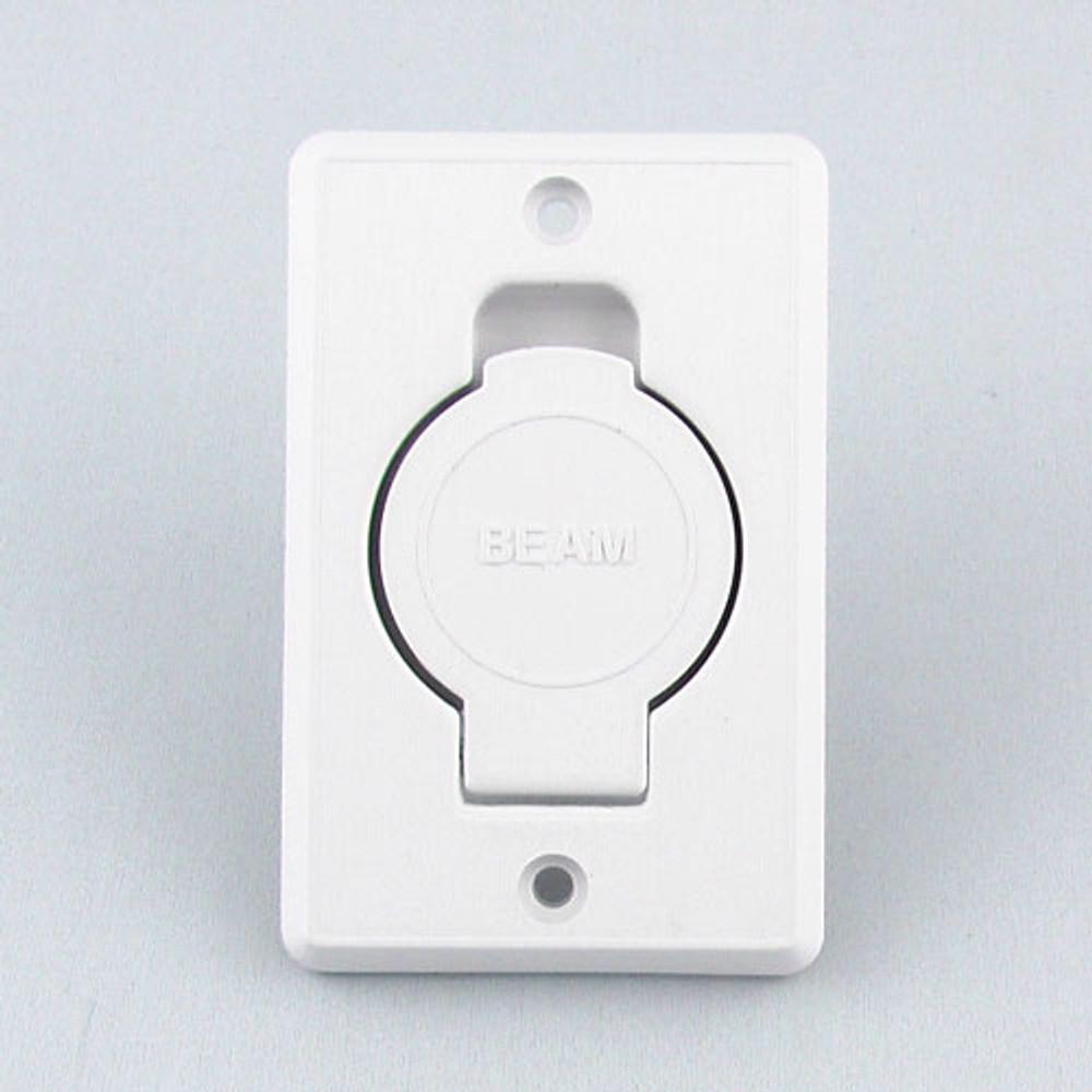 Beam toilet bowl style inlet valve in white.