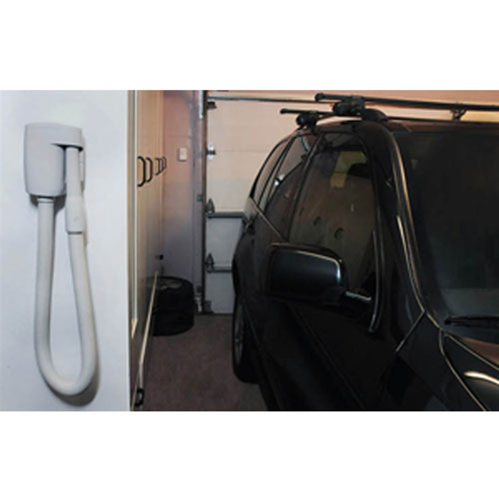 A WallyFlex in the garage is perfect for vehicle cleaning