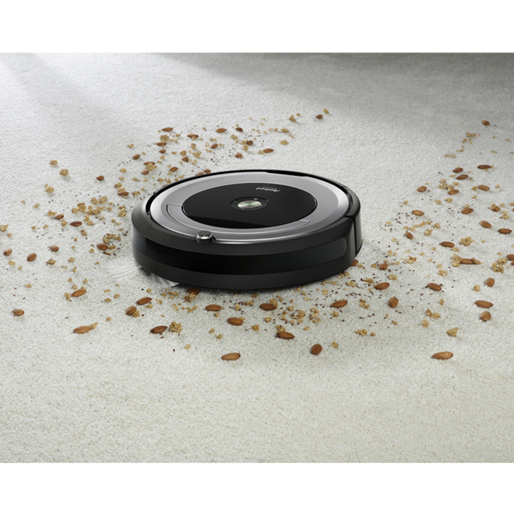 Debris pick up on carpeted surfaces.