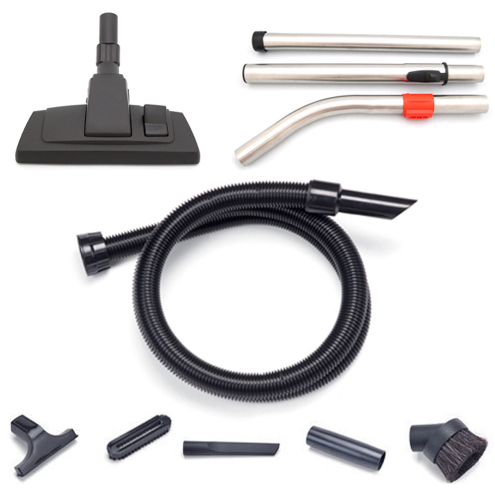 Includes crevice tool, dusting brush, upholstery tool and adapter.