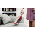 Cordless Electrolux hand vacuum works on upholstery.