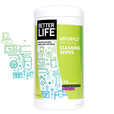 Better Life All Natural Cleaning Wipes - 70ct