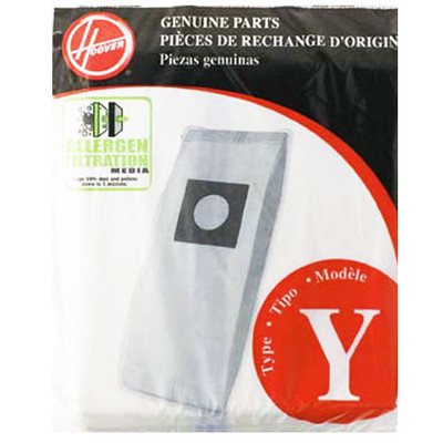Hoover Style Y Allergen Upright Vacuum Cleaner Bags 3pk