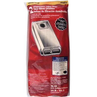 Shop Vac 15 to 22 Gallon High Efficiency Bags 2pk