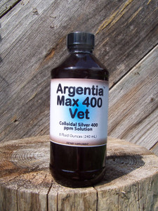 Argentia Vet Max 400 ppm Colloidal Silver Solution, 8 oz.
