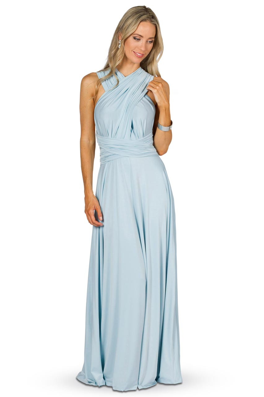 Convertible Bridesmaid Dress Maxi Sky Blue Bridesmaids Etc