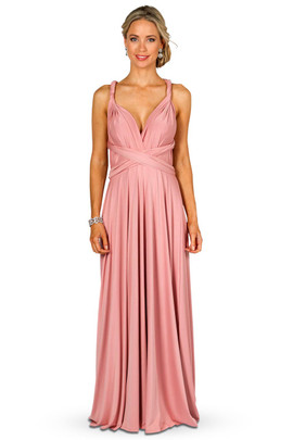 Convertible Bridesmaid Dress Maxi - Dusty Pink