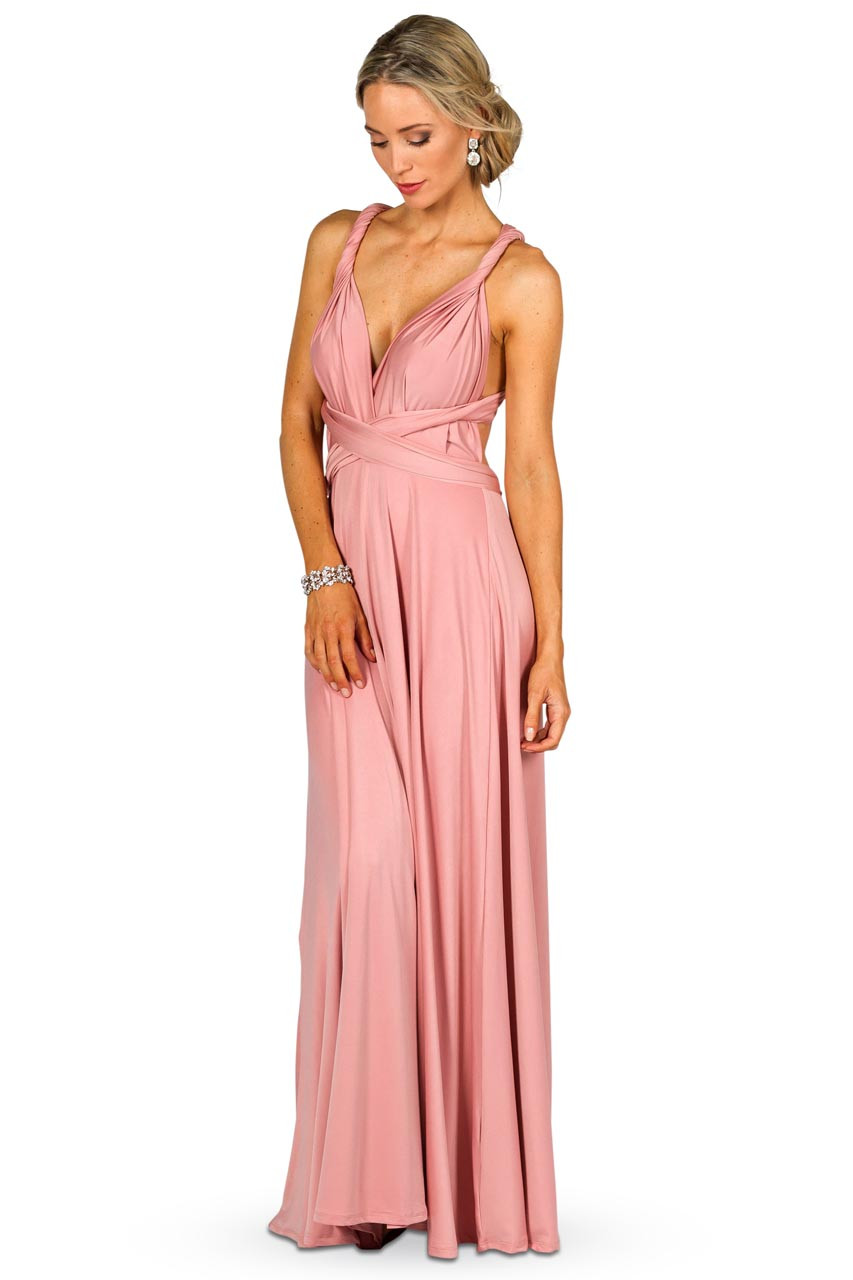 Convertible bridesmaid dress maxi dusty pink bridesmaids etc convertible bridesmaid dress maxi dusty pink gallery loading ombrellifo Gallery