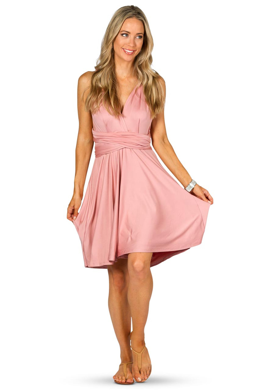 Convertible bridesmaid dress midi dusty pink bridesmaids etc gallery loading ombrellifo Gallery