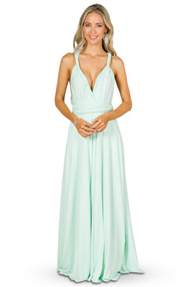 Convertible Bridesmaid Dress Maxi - Mint