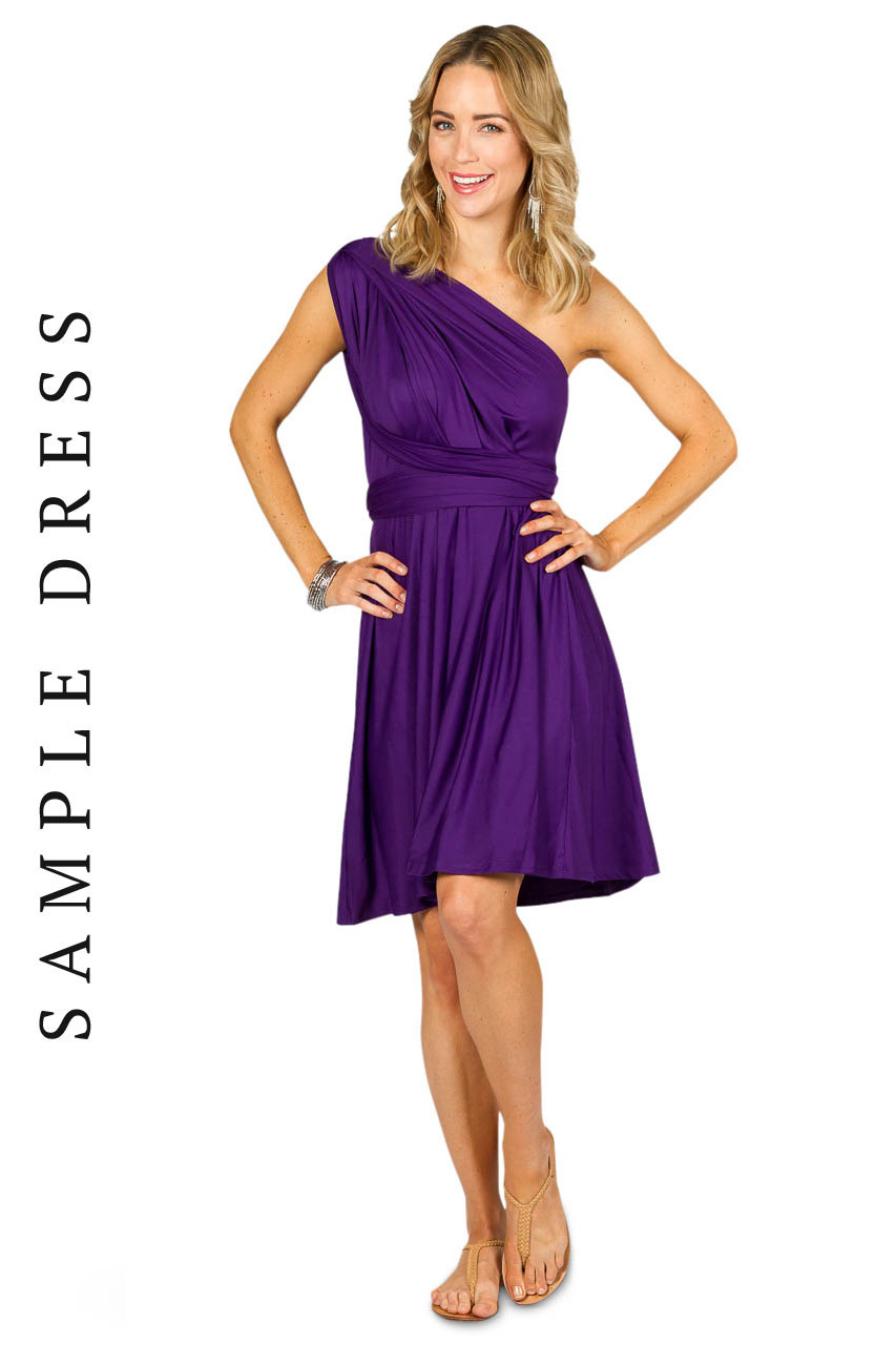 Sample Convertible Bridesmaid Dress Midi - Purple - Bridesmaids etc