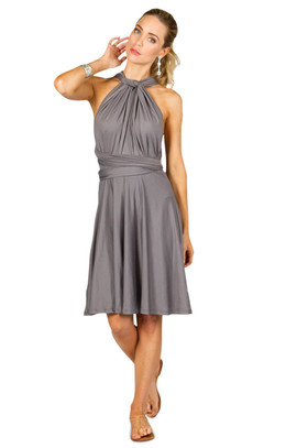Convertible Bridesmaid Dress Midi - Pewter