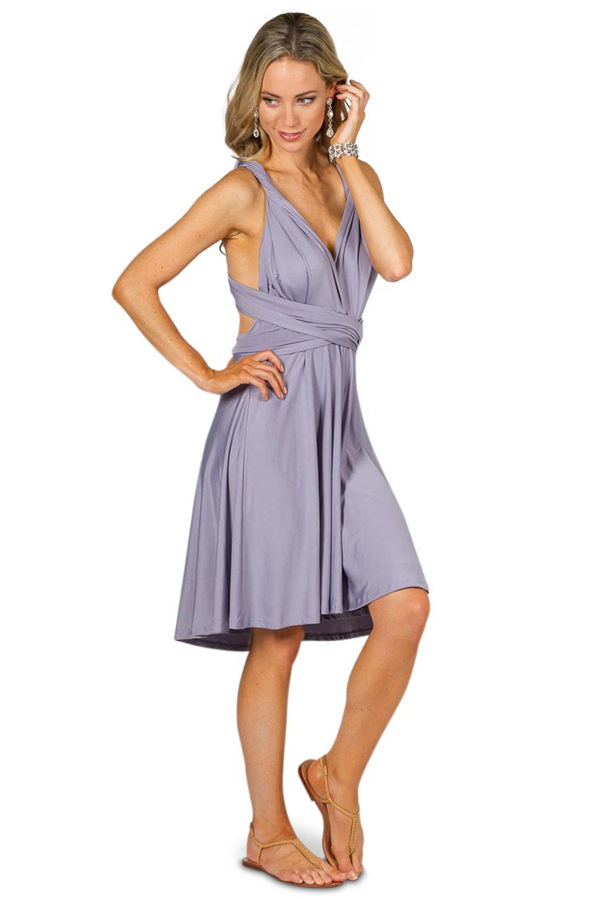 Convertible Bridesmaid Dress Midi Periwinkle