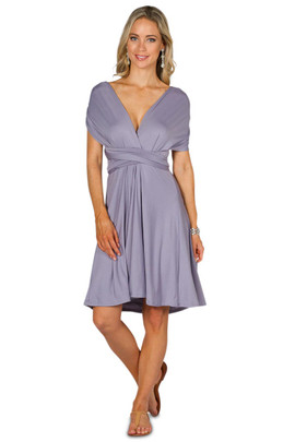 Convertible Bridesmaid Dress Midi - Periwinkle