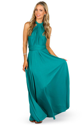Convertible Bridesmaid Dress Maxi - Jade
