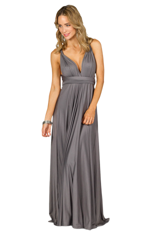 Multi Way Wrap Convertible Bridesmaids Dresses - Maxi Length