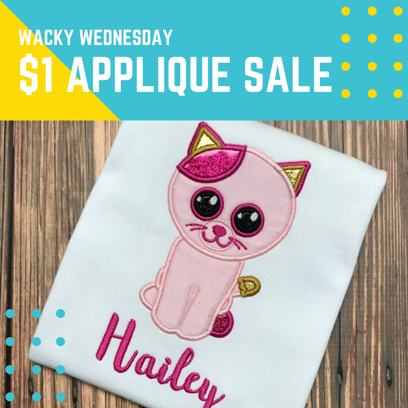 $1 Applique Design Sale