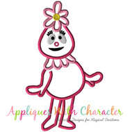 Foofy Pink Gabba Applique Design