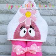 Foofy Pink Gabba Peeker Applique Design
