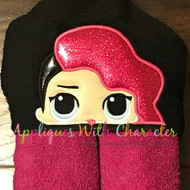 LOL Rocker Doll Peeker Applique Design