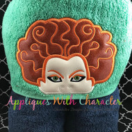 Halloween Sister Peeker Applique Design