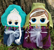 LOL Elsa & Anna Doll Peeker Applique Design Bundle