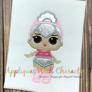 LOL Kitty Doll Applique Design