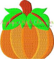 Pumpkin Filled Stitch Embroidery Design