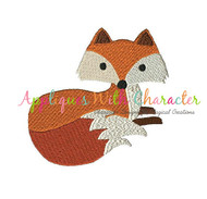 Fox Filled Stitch Embroidery Design