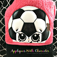 Shopkins Soccer Ball Peeker Applique Design
