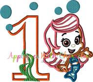 Bubble Guppies ONE Mollie Applique Design