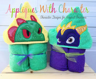 Dinorang and Spyro  Peeker Applique Design Set from Skylanders