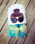 LOL IT Baby Audrey Hepburn Doll Peeker Applique Design