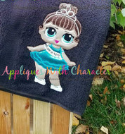 LOL Miss Baby Doll Applique Embroidery Design
