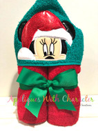 Minnie Mouse Santa Peeker Applique Design