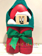 Mickey Mouse Santa Peeker Applique Designs