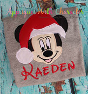 Mickey Mouse Santa Applique Design
